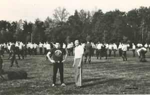 Mick and Chin Ho Lee 7th dan TKD.  Teaching at Marine officer school USA.