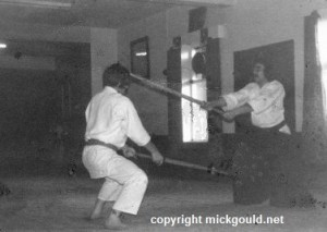 Pentre Wales, Mick training at the Dojo of Ken Willams Sensei.